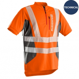 Husqvarna Arbejds T-shirt korte ærmer, Technical High Viz